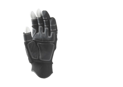 BLACK SYNTH-970 GLOVES 3 FINGERS OPEN